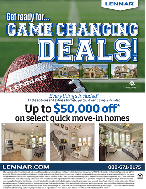 Lennar Homes Game Changing Promotion