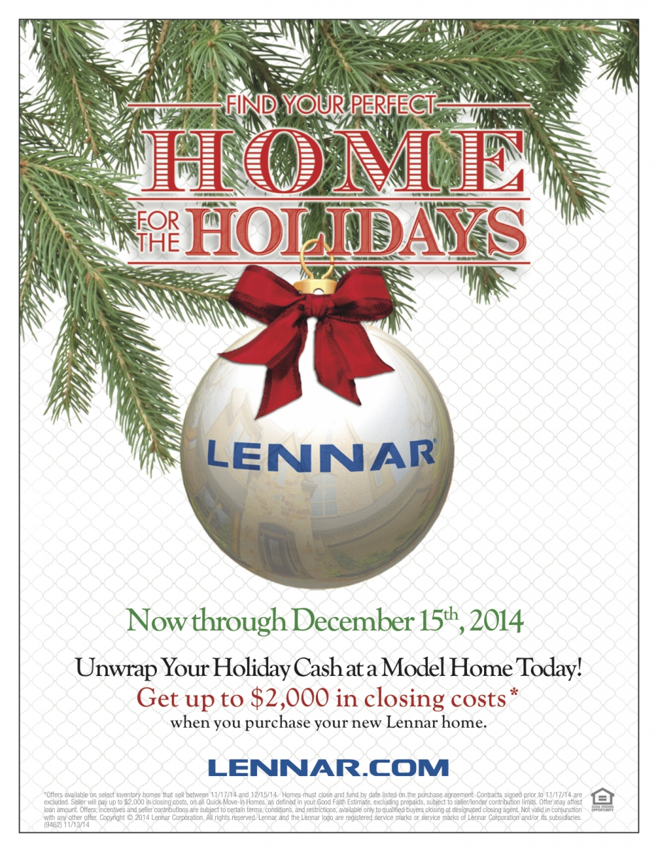 Lennar Homes Find Your Perfect Home for the Holidays Promotion