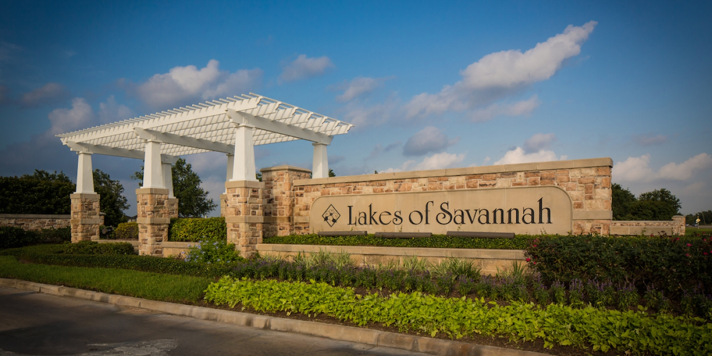 Lakes of Savannah Entry sign